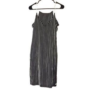 HURLEY Striped Navy Blue White Dress